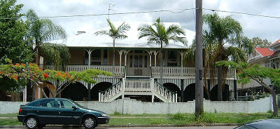 Typical Federation style Queenslander with filigree screens